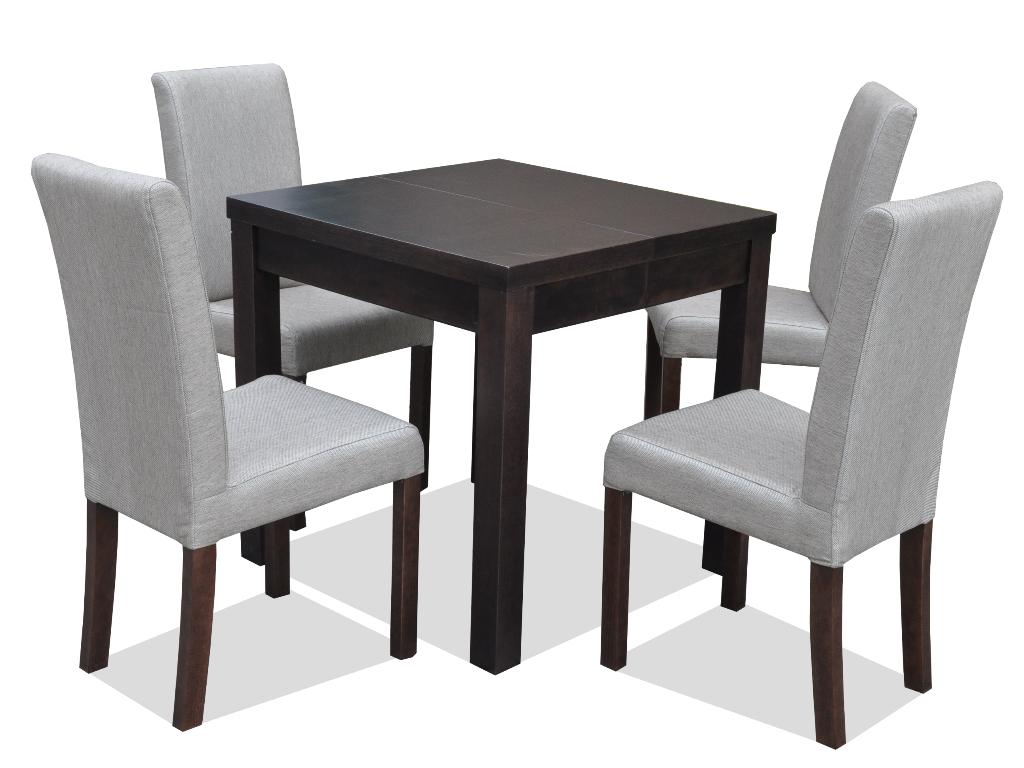 Zestaw Dla 4 Osób Krzesło Fotelowe I Stół Kwadrat A 4